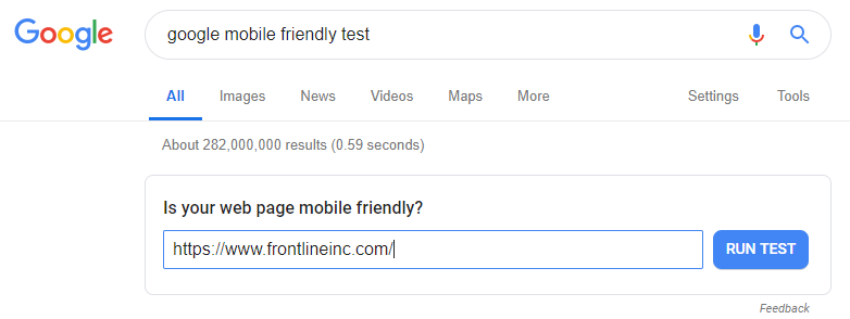 frontline los angeles mobile friendly